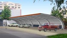 Carport, Steel Structure Building for Carport (SSW-446)