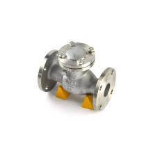Válvula de retorno de acero inoxidable con bridas de doble placa de 150 lb y doble pestaña