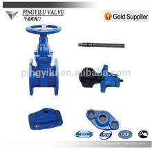 DIN agua de sellado suave de las piezas no-aumento de la válvula de compuerta de gas