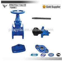 DIN soft sealing water parts non-rising gate valve gas