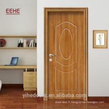 Porte de toilette en pvc classique porte de salle de bain pvc prix