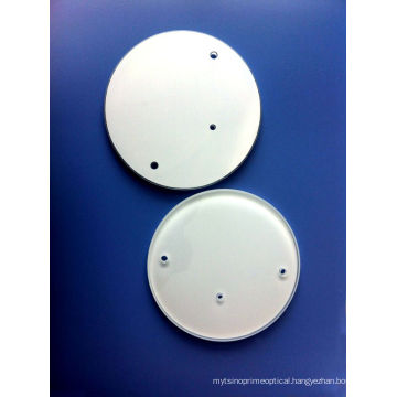 Optical Float Glass Windows with Holes & White Painting From China