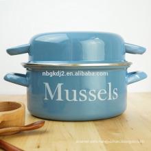 21/22cm size enamel mussel pot /enamelware cookware olla pot