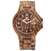 SKONE 7397 2017 new fashion design wood watch with Japan movt
