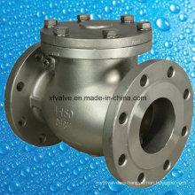 Válvula de retención RF de extremo de brida CF8m de acero fundido de 150 lb