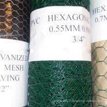 PVC-Coated Hexagonal Wire Netting 3/8 '' a 2 '' usado para a Esgrima