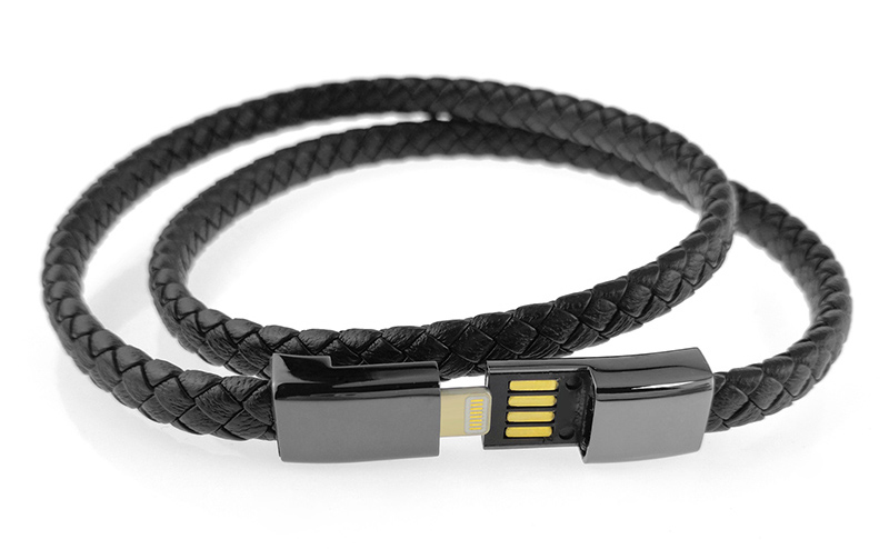 leather charger bracelet