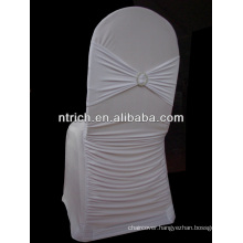 Spandex ruffled pleated chair covers,wedding chair covers with ruffles