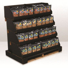 Pallet Shelled Nuts Display Stand, Cardboard Pallet for Retail Store
