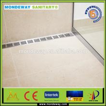 Popular Used HOT SALES In work wear men jacket linear shower drain/Stainless Steel304 linear drain side/plastic floor drain set