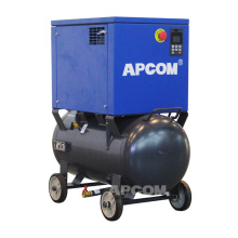 APCOM 18 cfcm 8bar 5.5 hp 4kw screw air compressor 220v with air dryer and tank 90 liters