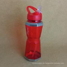 Botella de agua de la PC con la paja, botella de agua de los deportes