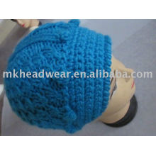 fashion winter 100%acrylic crochet knitted hats