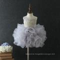 Neueste Vintage bestickt Blumenmädchen Kleinkind Geburtstag Kleid Muster für 3-Jährige