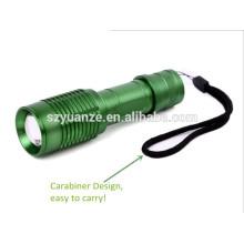 Lanterna de caça led verde Lanterna recarregável com mosquetão