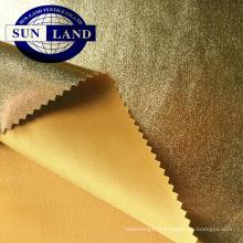 Tissu jersey interlock 95% polyester, 5% élasthanne et or