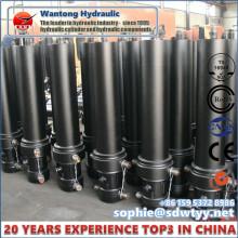 Cylindre télescopique hydraulique OEM / ODM pour camion benne