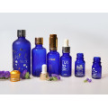 Blue Essential Oil Glass Bottle with Dropper (NDB07)