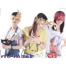 Party Mask with Sequin Embroidery Design, Ideal for Masquerade