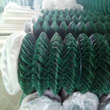 China Galvanizado / PVC revestido de arame de malha de elo da cadeia
