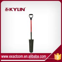 Conjunto de herramientas de jardín pala de pala de fibra de vidrio D mango pala de drenaje