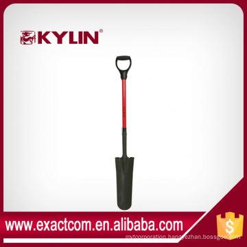 Garden Tools Set Spade Shovel Fiberglass D Handle Drain Spade