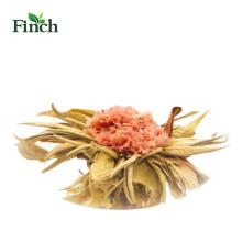 Bouquet de thé fleurissant de vente chaude de Finch avec l'oeillet dans le paquet de vide