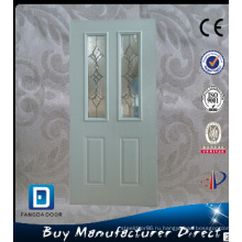 Полный Лайт Декоративное Закаленное Стекло, Вставленное Интерьера Utiltiy Офисные Стальные Двери