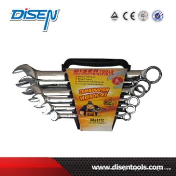 Fine cromo clip de plástico duplo 6pcs (6-17) chave de combinação