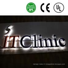 Signes de lettre de canal lumineux LED de haute qualité en plein air