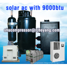 Solar a/c with 9000btu kompressor for DC inverter solar air conditioner Solar AC Inverter System with dc 48 compressor