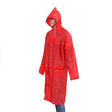 impermeable largo de color personalizado para adultos
