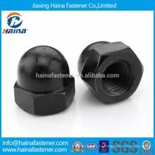 Оцинкованная гайка из углеродистой стали с черным оцинкованным покрытием
