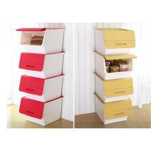 Caja de almacenamiento apilable plástica de la nueva moda del diseño