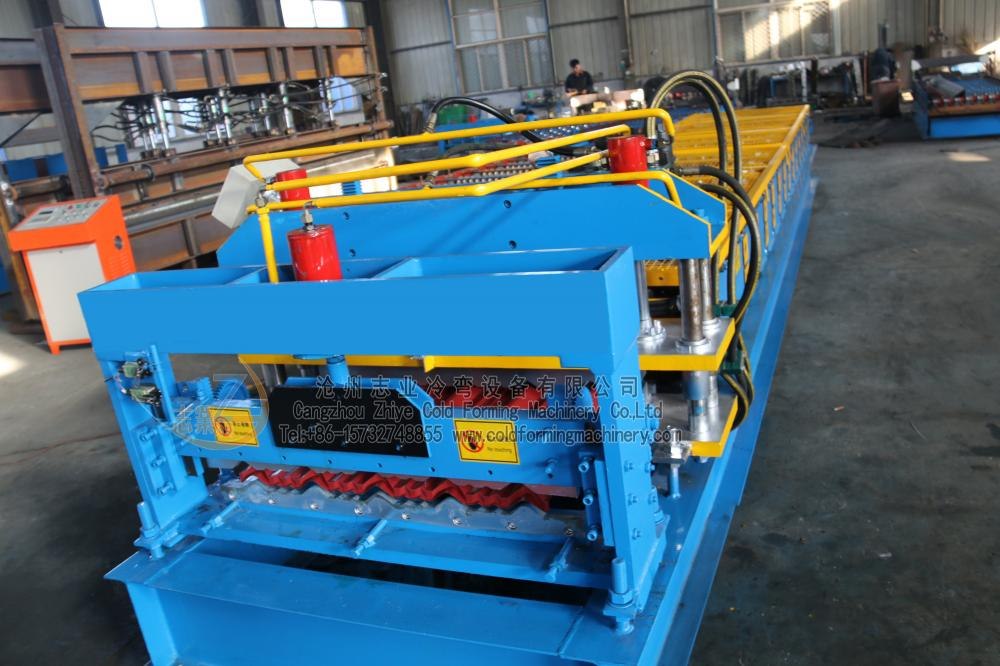 PPGI Glazed Tile Wall Roof Roll Forming Machine