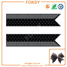 shining rhinestone design for cheer bow strips