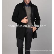 2014-2015 nuevos abrigos de cachemira de los hombres de negocios de un solo pecho de la moda