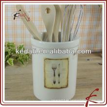Porta-herramientas de estilo moderno de cerámica con diseño de cuchillo