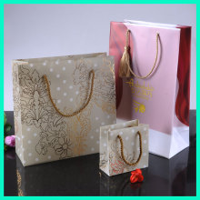 2014 Promotional cheap hot stamping printing custom plastic gift bags with drawstring