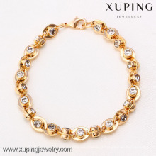 71727 Xuping Fashion Woman Bracelet com banhado a ouro