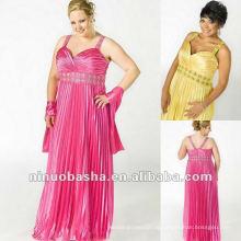 SElegant Charmeuse Plissado Com Beading Under Bust e no Straps Evening Dress 2012