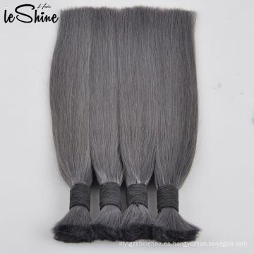 Virgen / natural indio Remy cabello humano a granel sin procesar trenzado cabello
