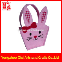 Häschen Form Tierstickerei Handtasche handgemachte Filztasche