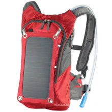 Solar backpack made by polyester can be customized