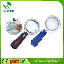 5x Griff Kunststoff Lupe mit LED-Licht