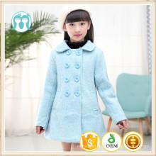 Crianças casaco novo ano céu azul inverno crianças vestuário casacos de natal em massa de alta qualidade meninas jaquetas de moda roupas 2017