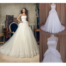 False deux pièces dernières photos de gants de longues conceptions de robes de mariée en mariage