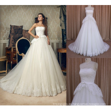 Alibaba A-Line vestidos de novia hermoso encaje vestido de novia