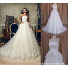 Alibaba A-Line Bridal Gowns Beautiful Lace Wedding Dress
