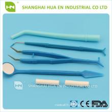 Kit Odontológico Descartável, Instrumento Odontológico Descartável com CE & ISO, Kit Cirúrgico para Implantes dentários